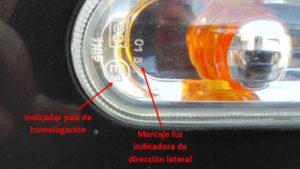 Marcado luces Intermitente lateral - Lence Ingeniería
