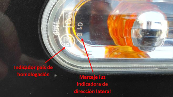 Marcado luces Intermitente lateral - Lence Ingeniería