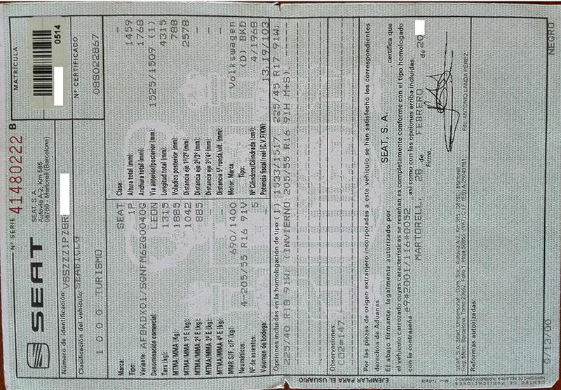 Documentación Ficha técnica - Lence Ingeniería