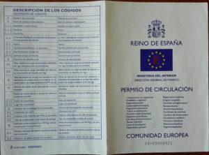 Documentación Permiso de circulación (parte trasera) - Lence Ingeniería