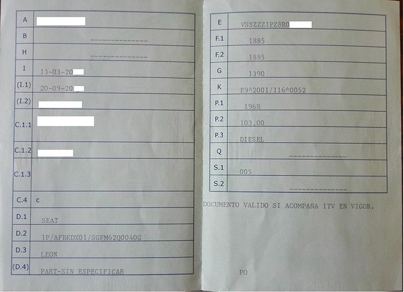 Documentación Permiso de circulación - Lence Ingeniería