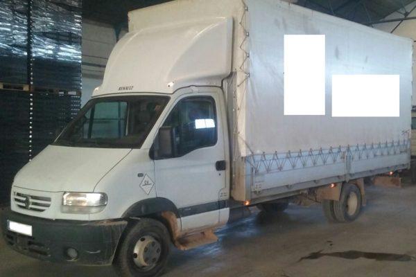 Cambio de caja en camión